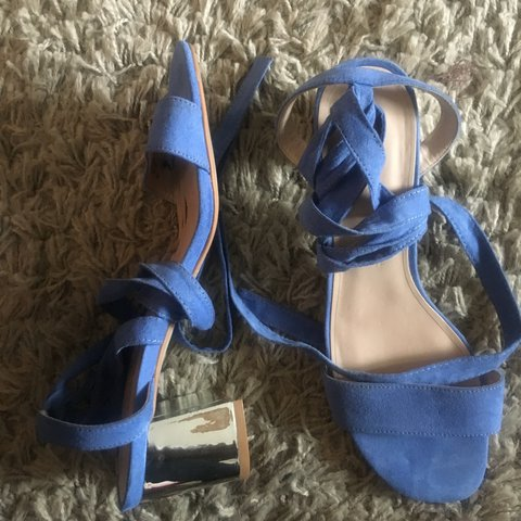 fd2d85fb13bb Topshop DELILAH tie up sandals. Blue. Really good condition - Depop