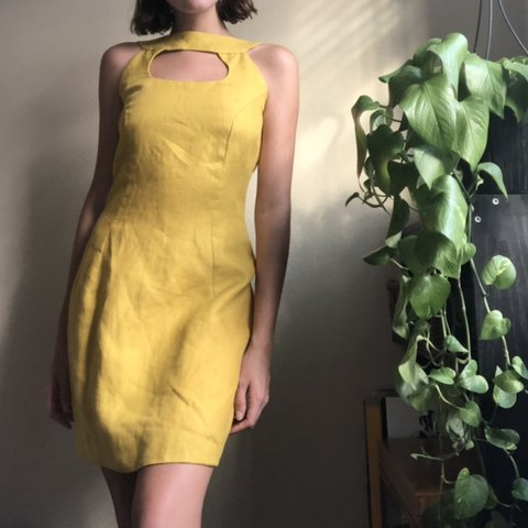Bright Yellow Vintage Cocktail Dresses