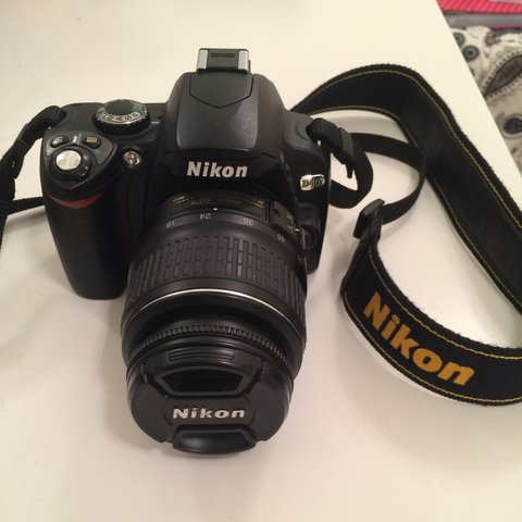 nikon d40x with a 18-55mm- 0
