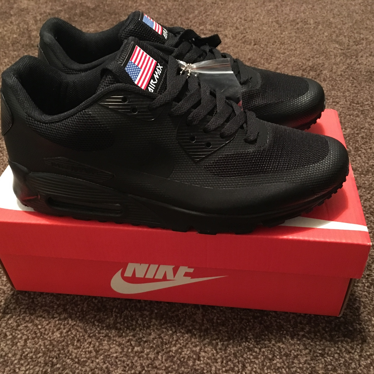 Nike air max hyperfuse 90 independence day black. Depop