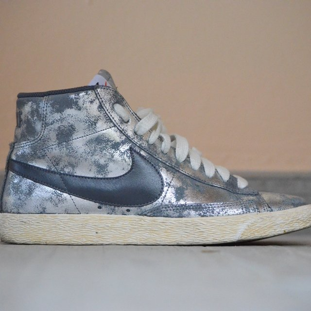 new arrival cd596 f94be nike blazer argento