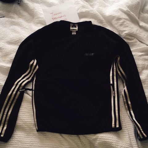 4fbc82bc1e00 Palace X Adidas FW15 fleece tracksuit top in black. Size see - Depop
