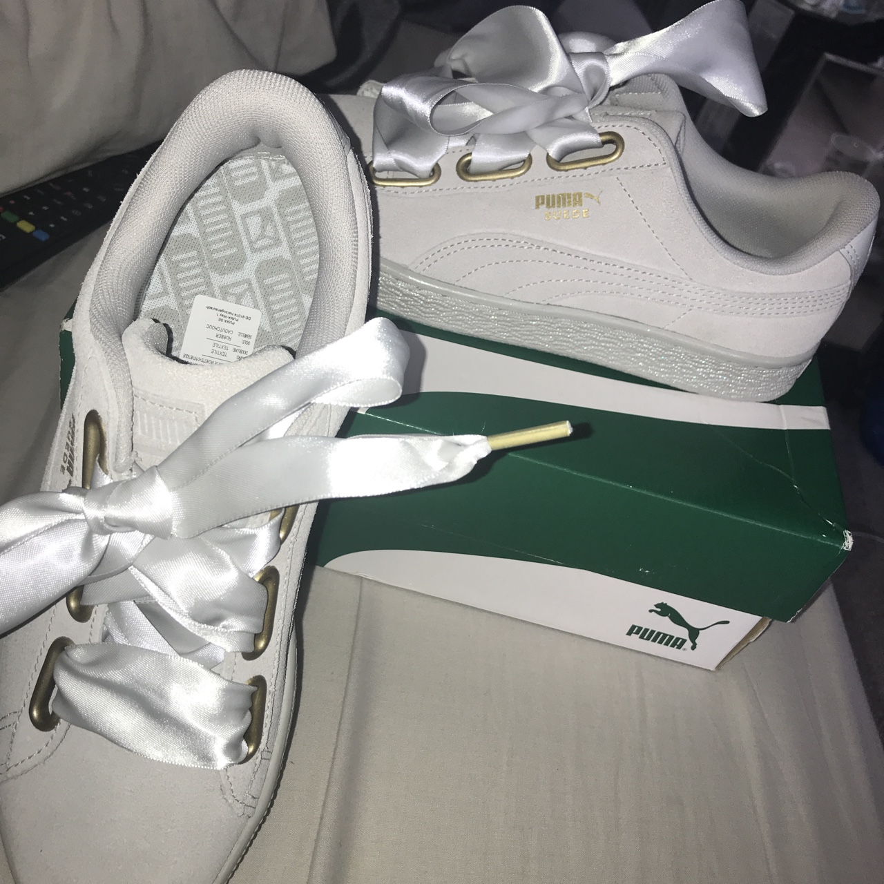 puma trainers with bow laces