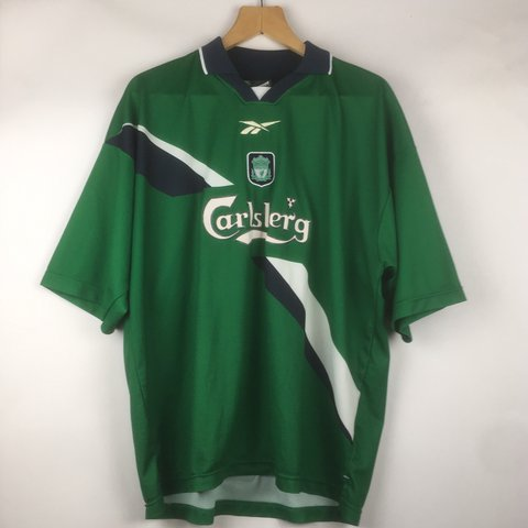 645958805 VINTAGE REEBOK LIVERPOOL FOOTBALL CLUB GREEN