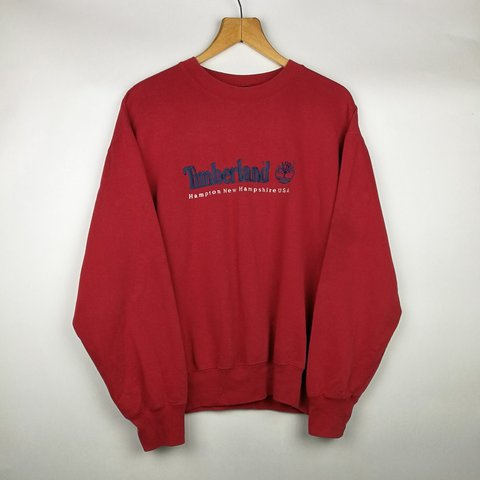 low priced 7ecaa d598a  pacifye. 7 months ago. Bedford, Bedford, United Kingdom. VINTAGE OVERSIZED  RED TIMBERLAND CREWNECK ...