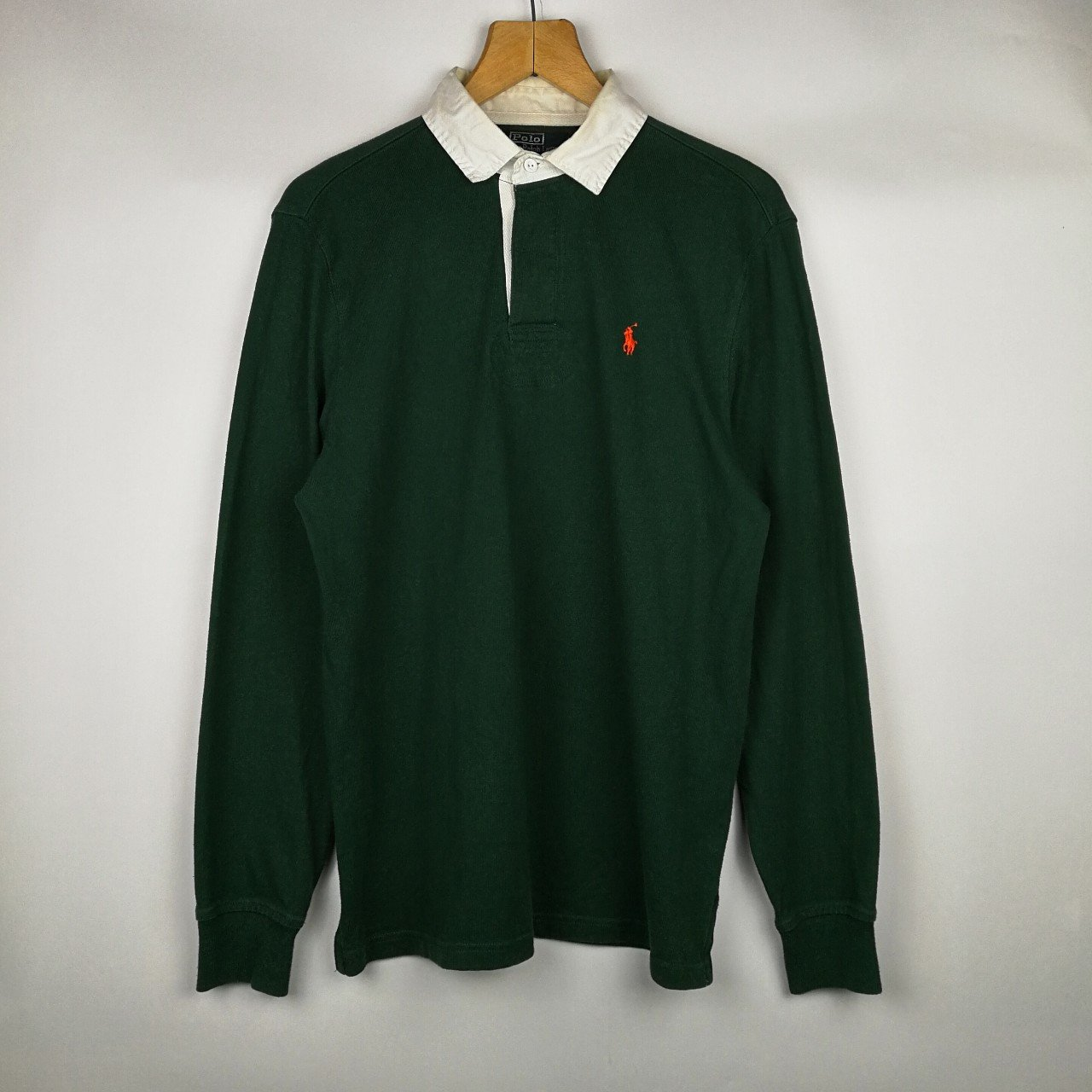 d69fbd9f @pacifye. 5 months ago. Bedford, Bedford, United Kingdom. VINTAGE FOREST  GREEN POLO RALPH LAUREN L/S RUGBY SHIRT ...