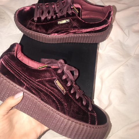 d4bdb6574f78e6  celinan. 5 months ago. United States. Velvet Royal Purple Puma Creepers   SZ. 7.5. Worn once