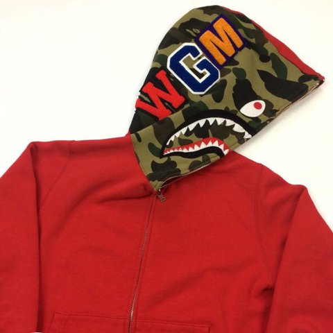 Red Camo Bape Shark Hoodie Will Consider Offers And Trades