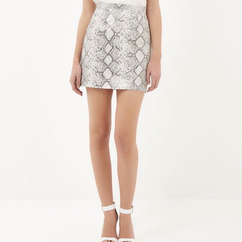 cb569c5c9a @abi_harper. last year. Hull, United Kingdom. | RIVER ISLAND snake print faux  leather mini skirt ...