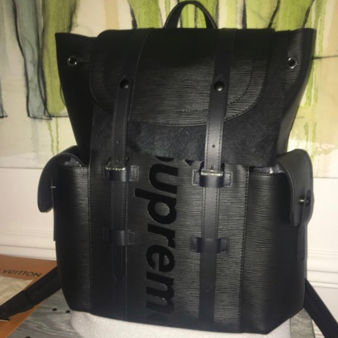 826b2e143f03 Louis vuitton x supreme collab backpack Neuf with receipt - Depop