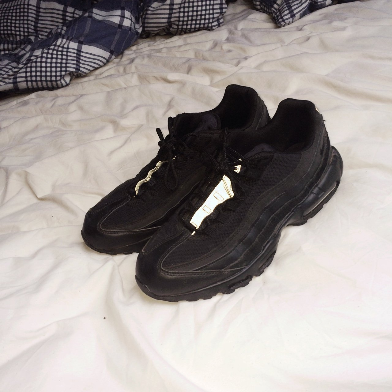 796e29a3e24797 Nike air max 95 Triple black. Bought these brand new £115. a - Depop