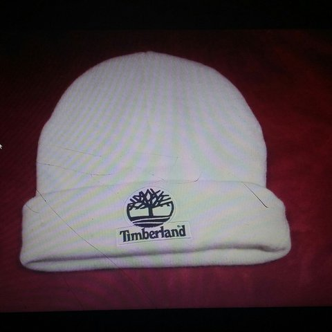 e549864b8b Supreme X Timberland Beanie in white tiny holes from a PM - Depop