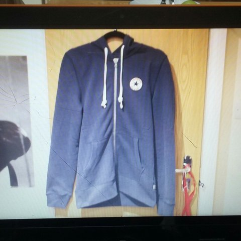 143516d444f4 @benabbott_1. 2 years ago. Timperley, Altrincham, United Kingdom. Converse  zip up hoodie in navy with patch ...