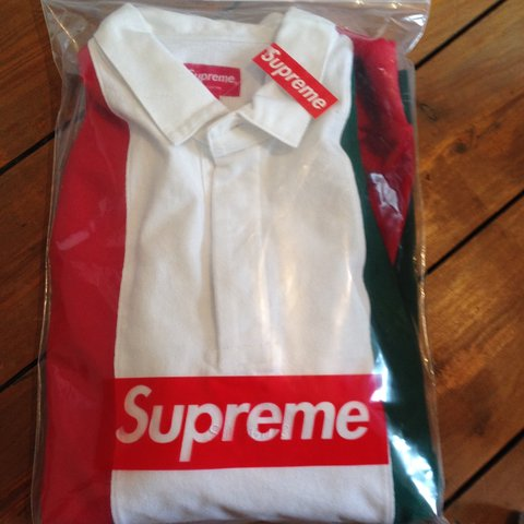 8ddf571ed @joejacobs64. 3 years ago. London, UK. Supreme Italian coulourway polo  rugby shirt has box logo ...