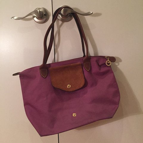 Authentic Longchamp tote! Was given this as a gift a few ago - Depop 8c4f4b126dd30