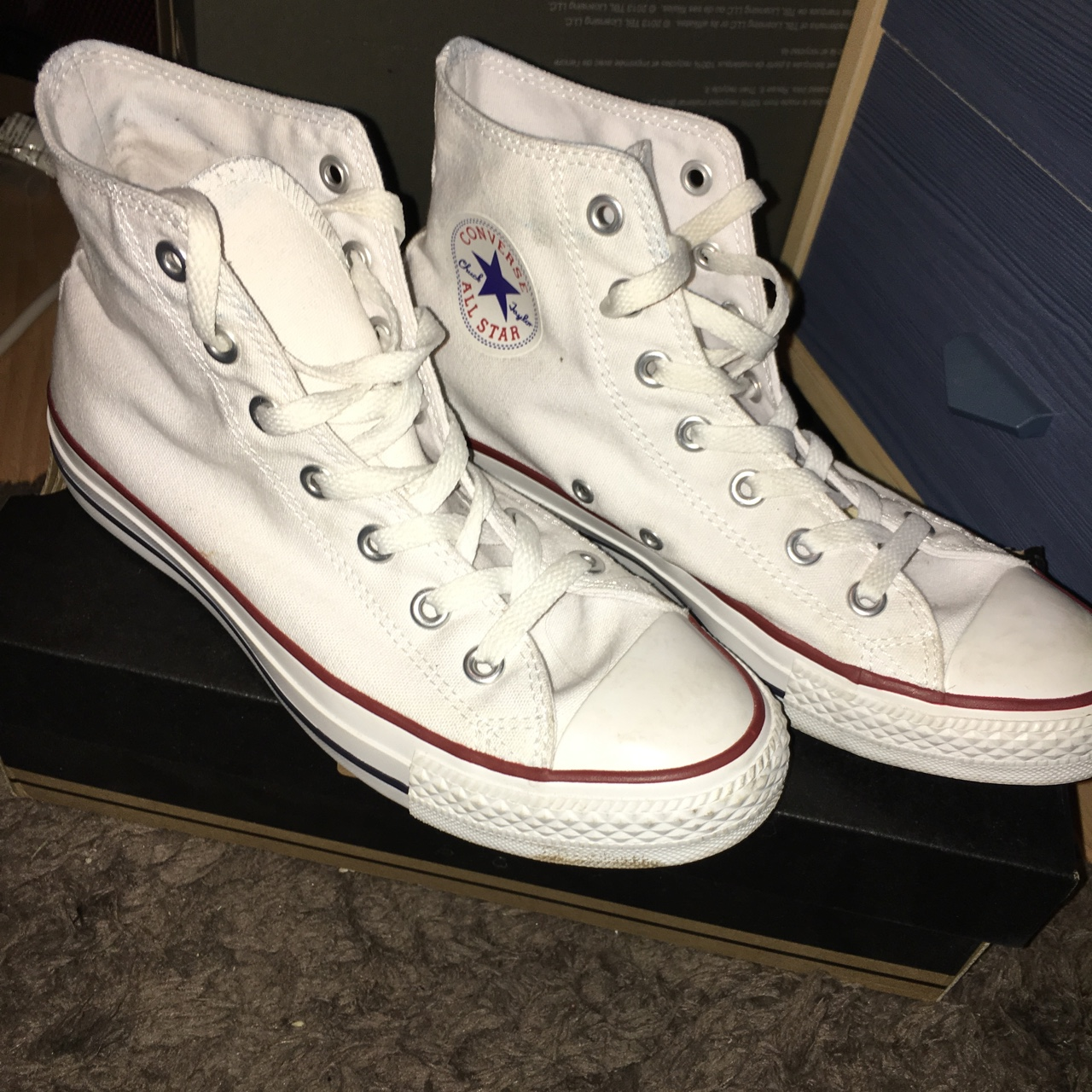Optical White High Top Size 6