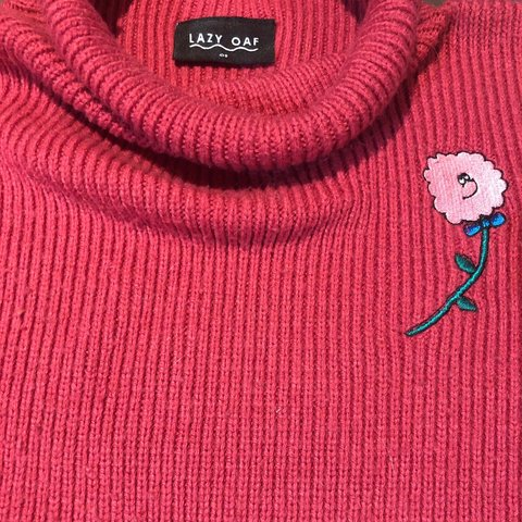 97e73be52d Lazy Oaf Flower Power Oversized Knit Shape is same as last - Depop
