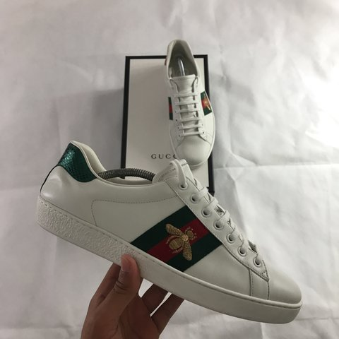 0df695fd2 100% Authentic Gucci ace bee size 9 UK can also fit size 9.5 - Depop