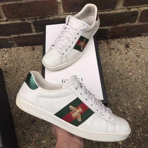 27aeb8c57f0 100% Authentic Gucci ace bee size 8.5 UK fits like a size 9 - Depop