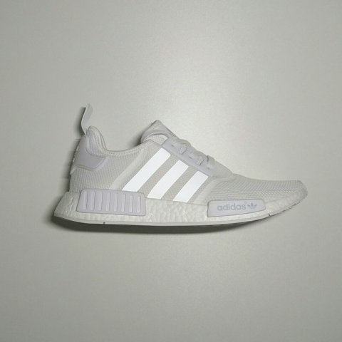 69753cbb7 Adidas Originals NMD Runner Boost R1 in Triple White. Size a - Depop