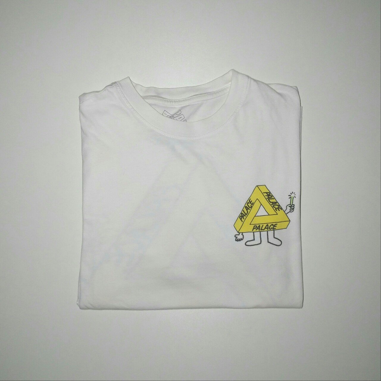 3a647a6af66f Palace Glow Stick T-shirt in White. Size Small but could fit - Depop