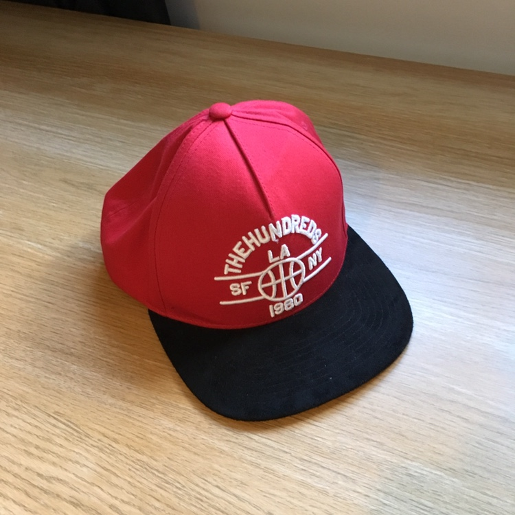 759434694 The Hundreds SnapBack Red 8/10 condition - Depop