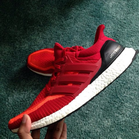 7f80875040e NEED GONE  Adidas Ultra Boost 2.0 Red Gradient