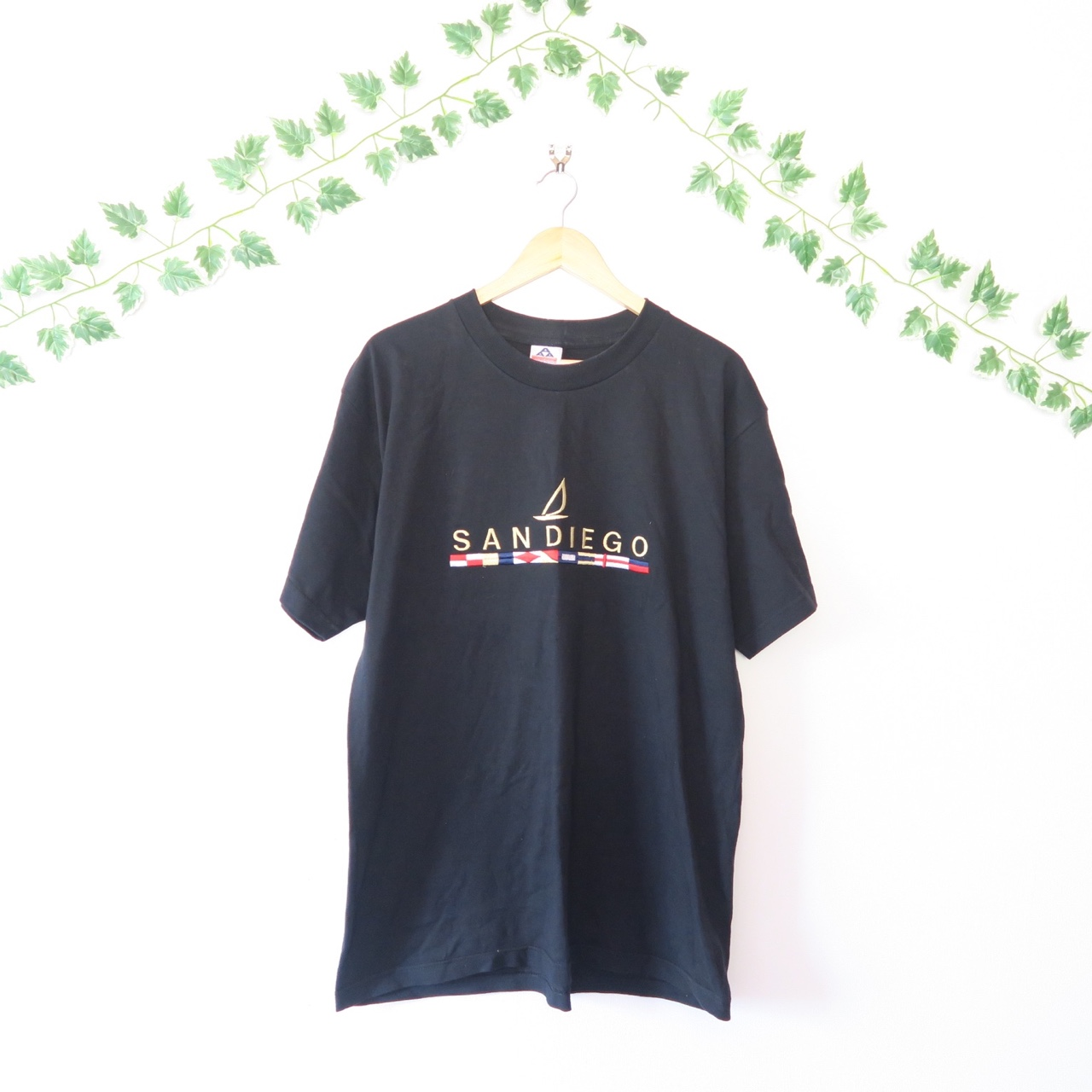 Black 90s T Shirt With Embroidered 39 San Diego 39 Across The