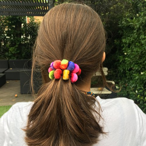 Really Cool Neon Pompom Head Ties Postage Included