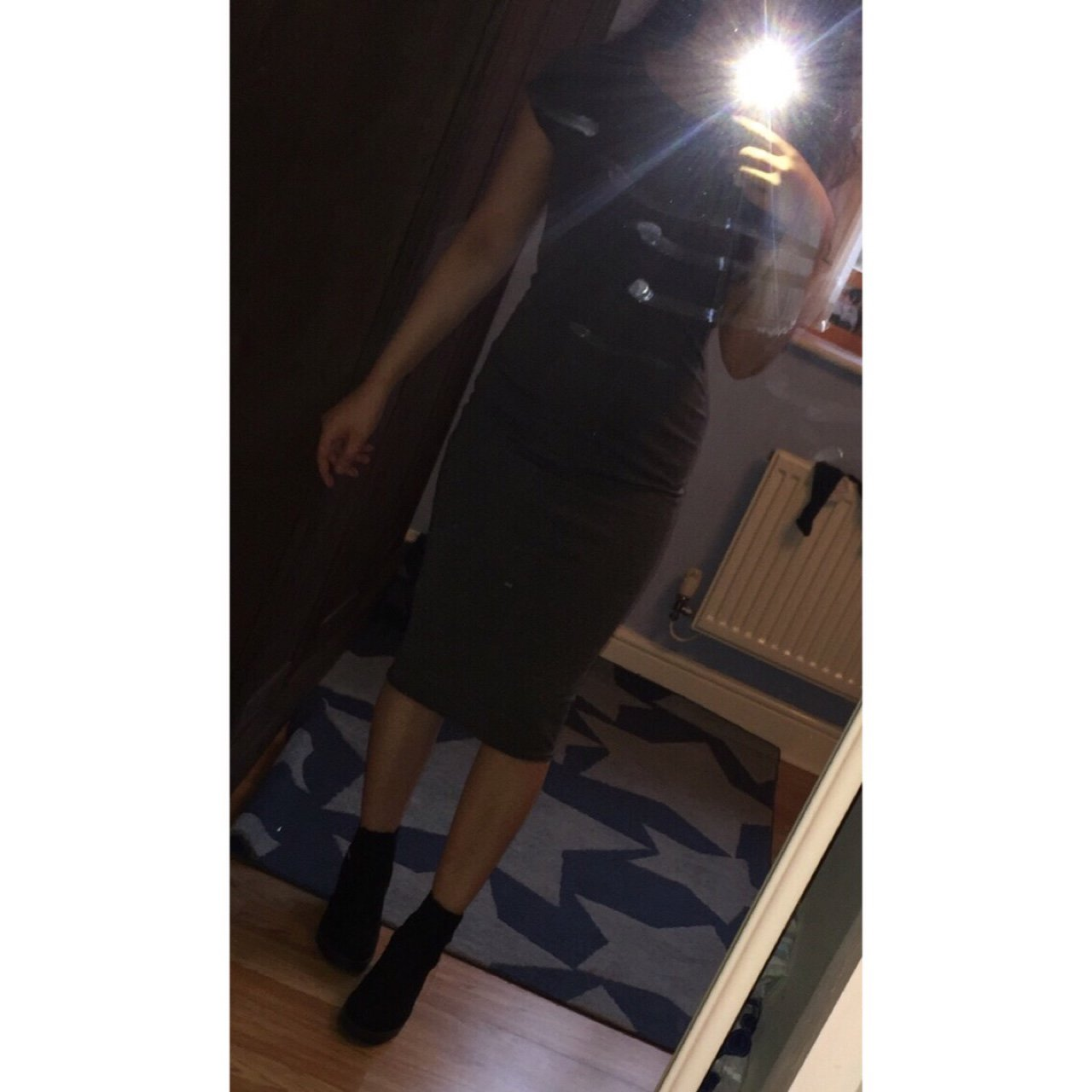 Missguided grey bodycon midi dress. S M but it s small so a - Depop 23fff644e
