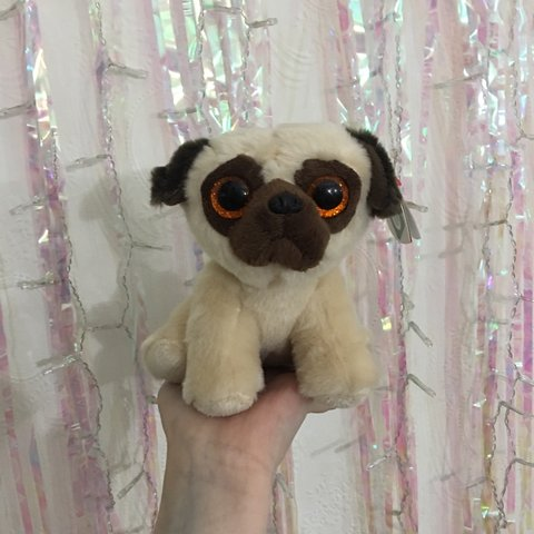 54c08a70aba TY beanie boos Pug ✨ mint condition with tags ✨ - Depop
