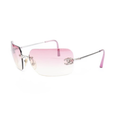 3bc0eceedc Chanel Sunglasses💎 00s Y2K Rimless sunnies with Pink color - Depop