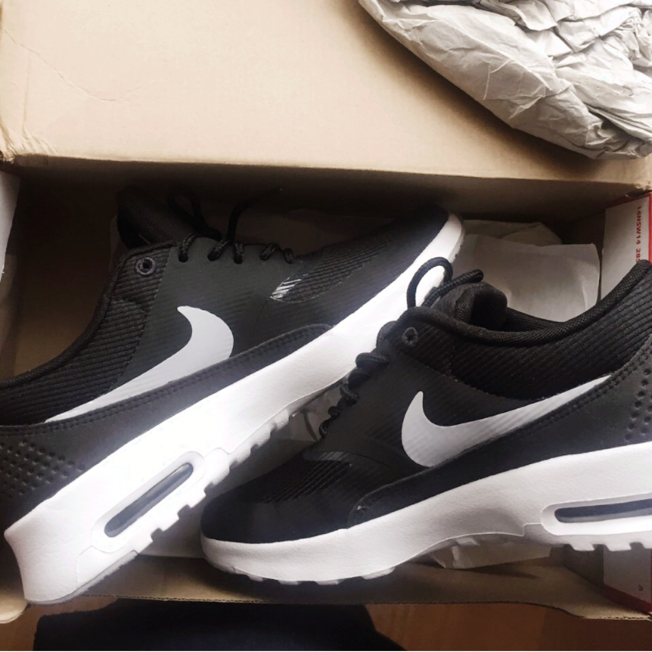Nike Air Max Thea Women's shoes Size 4 Black, Depop