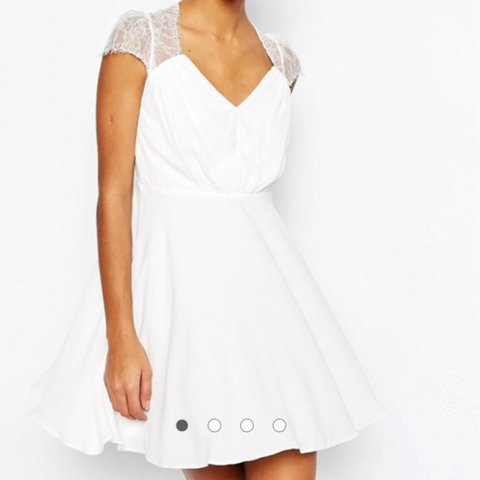 0420aa409 @brooke2s. 2 years ago. Asos white lace mini dress. Brand new with tags ...