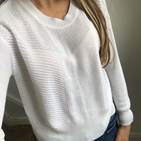 b26c6f6dc7 Summer ZARA white jumper 💛 size small! (Also available in - Depop