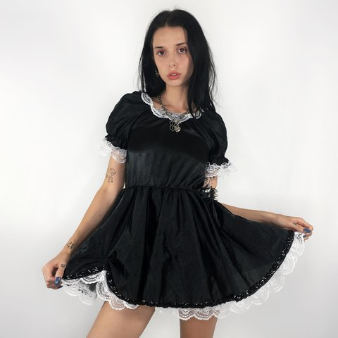 2cdc0bb8c1f Gothic Babydoll Dress🖤🕷 UHM😍😩 Is this dress even real  a - Depop