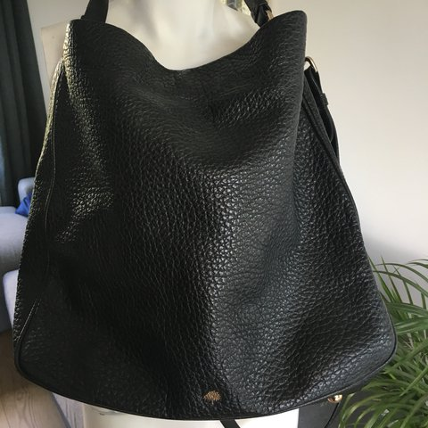 cef15e08bc93 ... top quality mulberry bag. real. black evelina hobo bag with gold buckle  depop c94c4