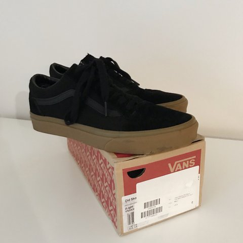 8177f22a30b9 Black suede old skool vans trainers with gum sole