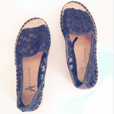 e85a7c6d5 @enemca. last year. London, UK. Navy blue flat espadrilles. Used but in good  condition. Size ...