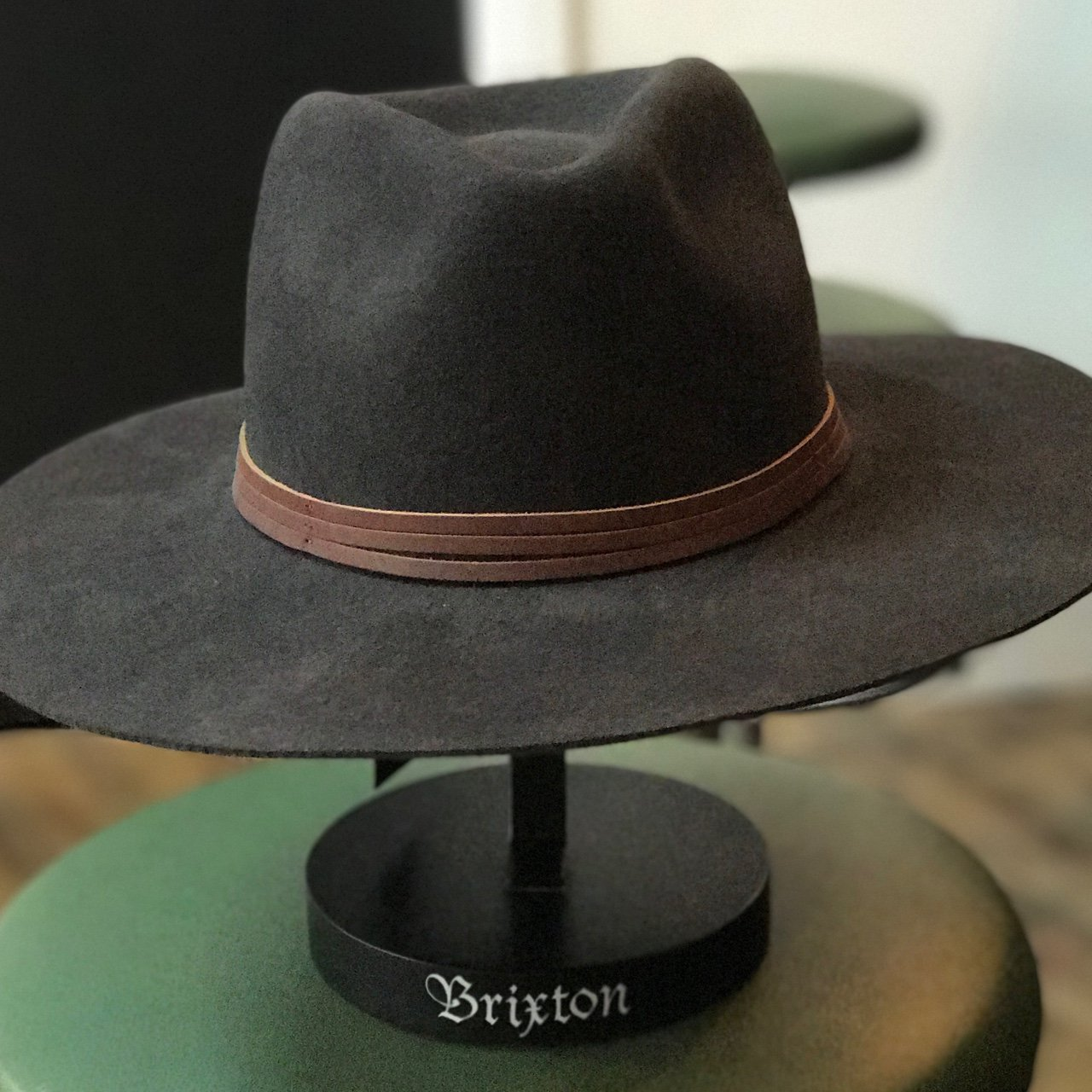 Brand New - BRIXTON Drover Fitted Hat In Washed Black🎩 Are - Depop 7bacee186cf