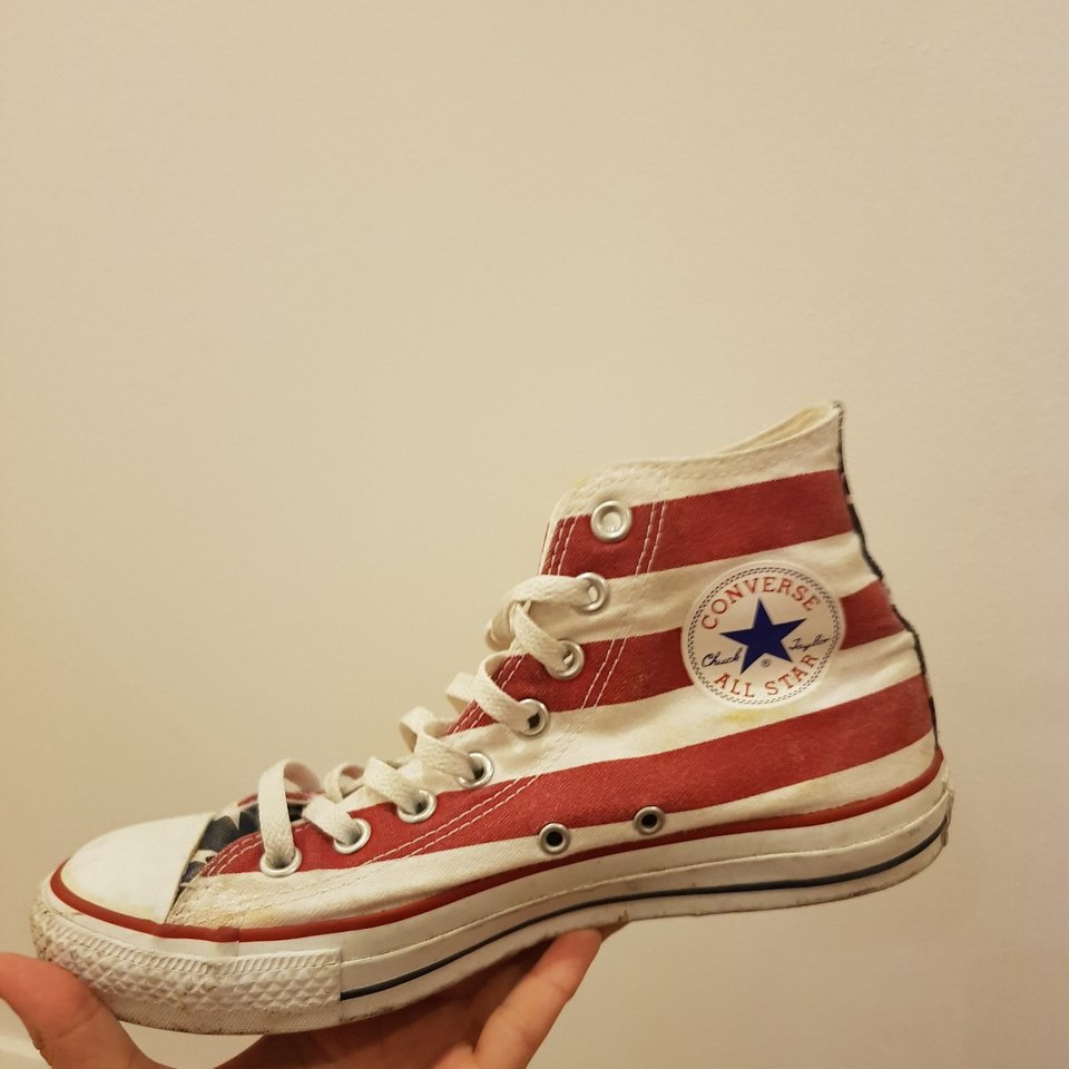 STARS AND STRIPES CONVERSE vintage American style Depop