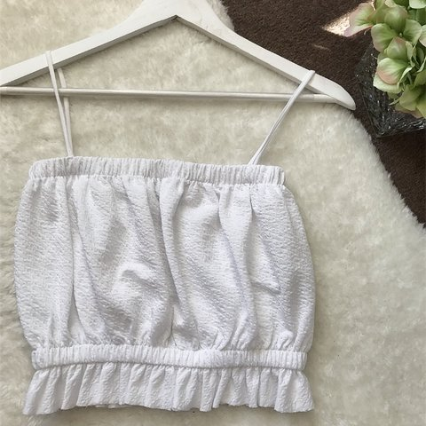 08dc3680a271 Zara collection white crop top Brand new no tags Size - Depop