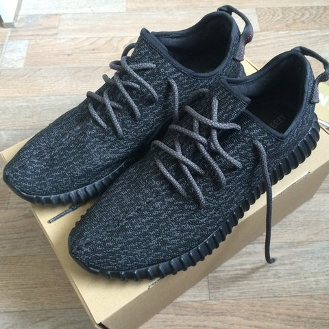 ad0e06d76643 Adidas Yeezy Boost 350 Pirate Black 2.0 size UK10 for sale! - Depop