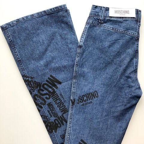 11be89b0d9 Vintage Moschino Logo Jeans Vintage Moschino Boot Cut Jeans - Depop
