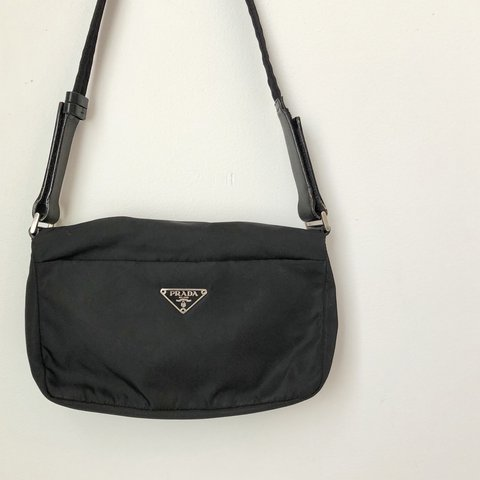 1fc2d88e7f ... greece prada nylon shoulder bag authentic prada black nylon bag. 3  depop af12d 3830f