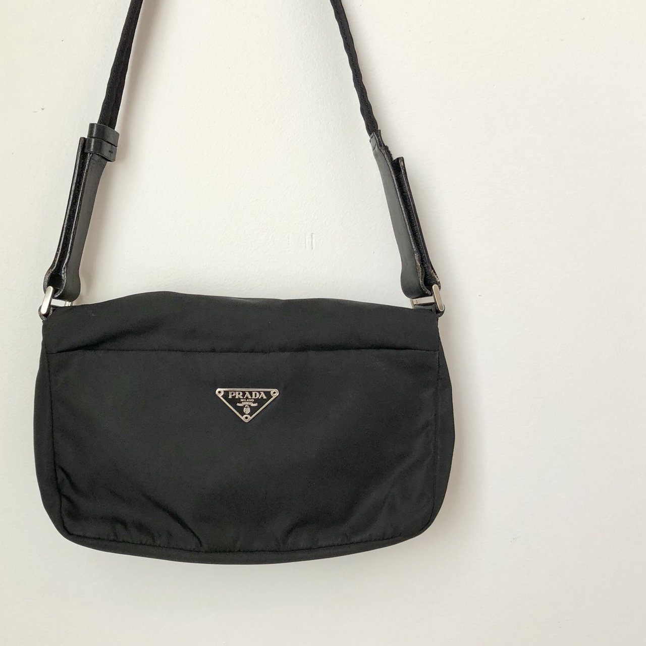 9a69c0a1ed27 Prada Nylon Shoulder Bag Authentic Prada Black Nylon Bag. 3 - Depop