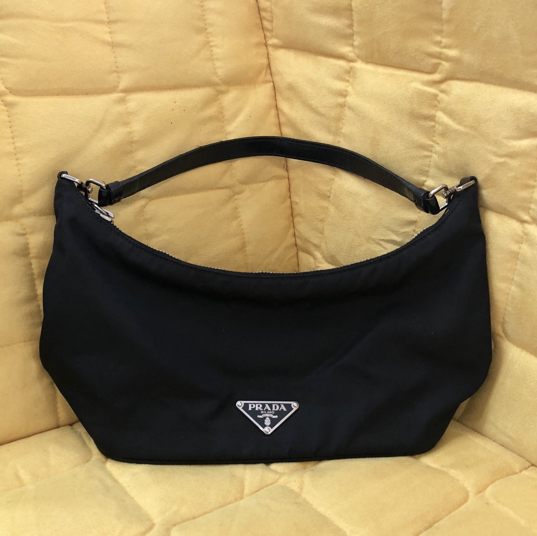 e9ed7a29db3c ... cheap vintage prada nylon shoulder bag authentic prada small and depop  77ead e9faa