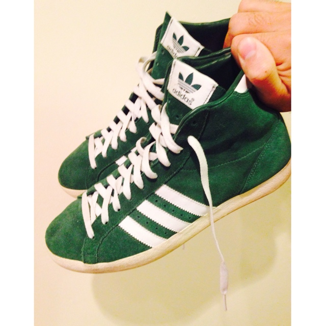Only worn once adidas gazelle high-tops