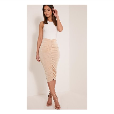 1226d9a65127 Remmie stone ruched midi skirt.brand new with tags - Depop