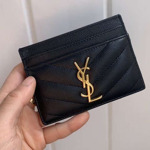 eefb66049d6 @myclosetexploded. 26 days ago. Los Angeles, United States. Authentic used  YSL leather cardholder !